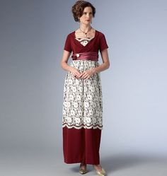 B6190, Empire-Waist Dress and Jacket