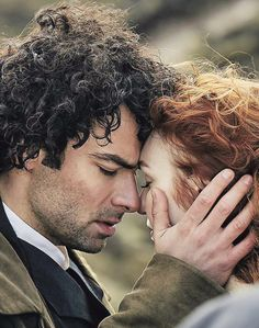 """""""This was the last day of the shoot, just up from the mines. It was a lovely way to end - just me and Demelza by cliffs. It seems like that's our place. I love working with Eleanor, and these scenes are always very easy. We just have a good chemistry - there's a few times we corpse, but it's a little smile rather than a big laugh and we can always check each other."""" -Aidan Turner, Radio Times <—How beautiful is this! ❤️"""