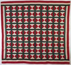 Bow Tie Quilt: Circa 1890; Pennsylvania