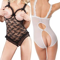 VANKER Mujeres Señora See-Through Exposed Breast Underwear Sujetador Cleavage Ropa de dormir Lencería – Comprar Gangas