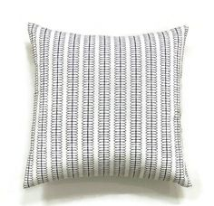 New Nate Berkus home decorator fabric! Very pretty 100% cotton medium weight fabric in white and black created for an 18x18 inch pillow insert.