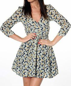 This floral Zara skater/tea dress is perfect for Easter lunch - look stylish and get away with eating lots of Easter eggs! | eBay