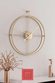 Minimalist Wall Clock- Minimalist Wall Clock The clock is ticking! Bringing you the minimalist charm with the functionality of time. Made with high-quality iron, these silent clocks made a grand statement. Modern Interior Design, Modern Decor, Minimalist Wall Clocks, Wall Clock Design, Wall Clock Decor, Kitchen Wall Clocks, Home Decoracion, Wood Clocks, Large Wall Clocks