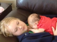 Godmother and Godchild taking a snooze!