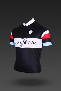 black turin cycling jersey by danny shane