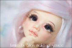 Make up Bjd doll unoa Gyaru style msd sd. €35.00, via Etsy.