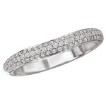 The a universally accepted standard to diamond grading. Learn about the cut, color, clarity, carat weight. Curved Wedding Band, Wedding Bands, Diamond Bands, Unique Rings, Diamond Engagement Rings, Bracelets, Silver, Jewelry, Bangle Bracelets