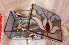 Beautiful Oriental Stained Glass handmade Box Home by Levantese