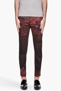 PAUL SMITH Red and black gradient Rose Trousers