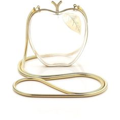 Lena Erziak Clear Lucite Adam Apple Bag (€560) ❤ liked on Polyvore featuring bags, handbags, clutches, purses, accessories, bolsas, clear, clear lucite purse, clear hand bags and hand bags