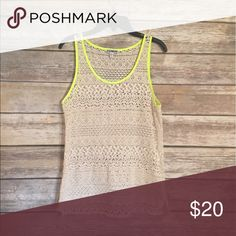 Express Lace Tank Top In great condition. Looks new. Express Tops Tank Tops