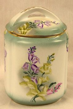 Limoges china - hand-painted biscuit jar