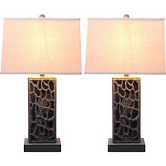 Terran Antique Bronze Table Lamp Set of 2 - #7P792 | Lamps Plus