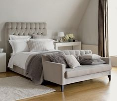 Image detail for -... bedroom a sophisticated palette of greys, neutrals and warm beiges