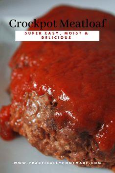 Meat Loaf Recipes Crockpot Keto 56 Ideas For 2019 Crockpot Meat, Slow Cooker Meatloaf, Easy Meatloaf, Crockpot Dishes, Meatloaf Recipes, Homemade Meatloaf, Crock Pot Meatloaf, Crockpot Recipe For Meatloaf, Ground Beef Crockpot Recipes