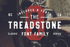 Treadstone - 8 Font Family by Greg Nicholls on @creativemarket