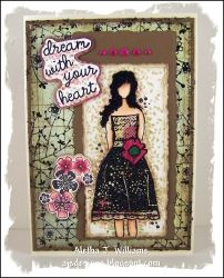 """Dream with your heart is ready for any occasion, especially for graduation or maybe a bridal shower. The finished size is 5"""" x 7"""" and is left blank on the inside for your personal sentiment. The majority of my handmade greeting cards are handstamped."""
