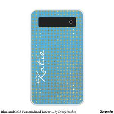 Blue and Gold Personalized Power Bank
