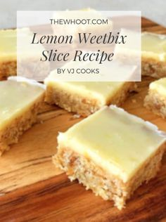 Weetabix Recipes Lemon Weetbix Slice Recipe Is Delicious - Weetabix Recipes Lemon Weetbix Slice Recipe Is Scrumptious This recipe yields 24 slices and based mostly on Vanya, it's 10 minutes prep and Baking Recipes, Cake Recipes, Dessert Recipes, Dessert Food, No Cook Recipes, Tray Bake Recipes, Lunch Box Recipes, Baking Ideas, Weetabix Recipes