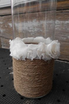 Wedding Centerpiece Rustic Shabby Chic French Country Vase. $28.00, via Etsy.