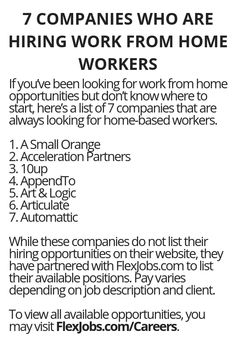7 Companies Who Are Hiring Work From Home Workers - Wisdom Lives Here, WAH jobs, job opportunities, work from home Ways To Earn Money, Earn Money From Home, Earn Money Online, Way To Make Money, How To Make, Quick Money, Money Tips, Legit Work From Home, Work From Home Jobs