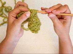 DROPS Crochet Tutorial: how to crochet Bobbles/PopCorn sts