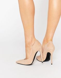 Kendall & Kylie Abi Suede Nude Court Pointed Pumps ($146)