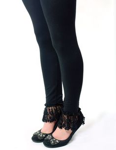SoftSkins black lace leggings from Victorian Trading Co.