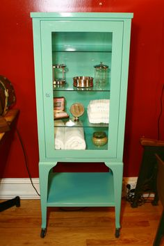i love this antique dental/dentist cabinet!