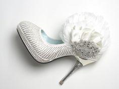 Sparkling diamond wedding shoes