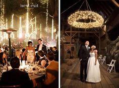 vertical fairy lights wedding - Google Search