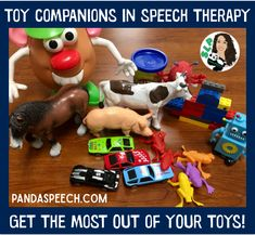 Give Your Therapy Toys More Purpose with toy companions for speech therapy. I teamed up with Meredith from Peachie Speechie last year to write about how