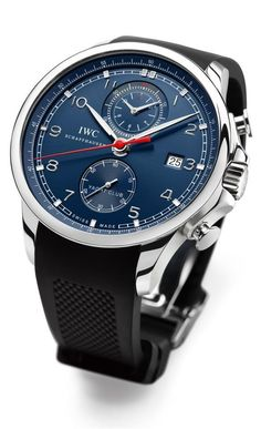 """IWC Schaffhausen Portuguese Yacht Club Chronograph Edition """"Laureus Sport for Good Foundation"""". IWC Schaffhausen - Measuring Time With Style, our latest article talks about this great Swiss manufacture: Men's Watches, Cool Watches, Watches For Men, Dream Watches, Luxury Watches, Style Masculin, Bracelet Cuir, Mechanical Watch, Beautiful Watches"""