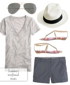 summer weekend outfit inspiration. I think I should try this this summer since my legs are in shorts-shape!
