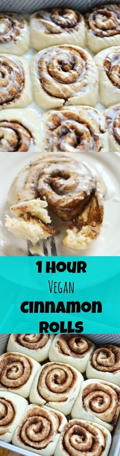 1 hour #vegan cinnamon rolls! Better than cinnabon, and the only recipe you'll ever need!