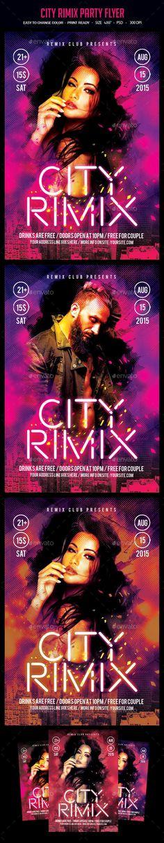 City Rimix Party Flyer