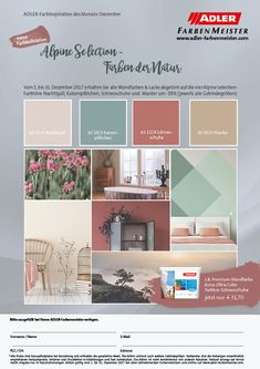 Farben der Natur - die neue Kollektion von ADLER Decorating Bedrooms, Eagle, Paint, Nature, Colors