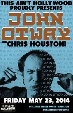 John Otway with Chris Houston May 23 Touring, Houston, Hollywood, Singer, Movie Posters, Humor, Singers, Film Posters, Billboard