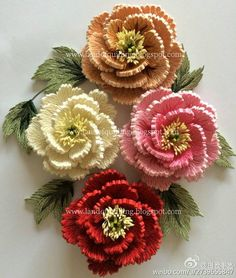 The Art of Quilling: Quilled Peonies Neli Quilling, Paper Quilling Flowers, Quilling Work, Paper Quilling Patterns, Origami And Quilling, Quilled Paper Art, Quilling Paper Craft, Paper Crafts, Quilled Roses