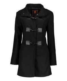 Look at this #zulilyfind! Black Toggle Peacoat #zulilyfinds