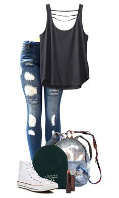 """Untitled #44"" by aliciastylinson ❤ liked on Polyvore featuring Chanel, Burt's Bees, Converse and Kavu"