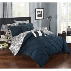 Shop for Chic Home 10-Piece Fedel Navy BIB Comforter Set. Get free shipping at Overstock.com - Your Online Fashion Bedding Outlet Store! Get 5% in rewards with Club O!