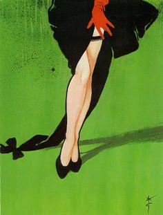 black garter: by rené gruau