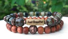 Breathe Bracelet Just Breathe Inspiration by BlueStoneRiver, $31.95