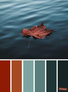 Ocean Color Palette, Fall Color Palette, Ocean Colors, Colour Pallette, Brown Color Schemes, Color Schemes Colour Palettes, Rustic Color Palettes, Office Color Schemes, Orange Color Palettes
