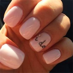 Home » Beauty » Our 30 Favorite Wedding Nail Design Ideas for Brides » I DO !! wedding nail design ideas