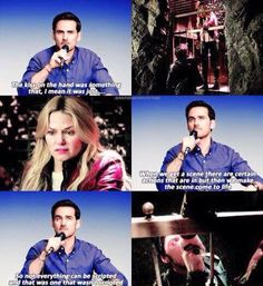 Hook talking about the scene