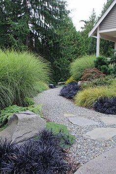 Landscaping Ideas for Your Home Suhr-Brown, Bainbridge Island, WA - contemporary - landscape - seattle - Bliss Garden Design Modern Landscape Design, Modern Garden Design, Landscape Plans, Modern Landscaping, Contemporary Landscape, Backyard Landscaping, Landscaping Ideas, Backyard Patio, Landscaping With Grasses