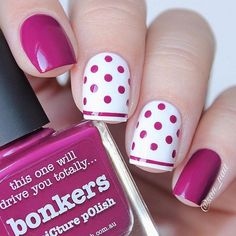 Polka Dots Nail Art TopPolka dot pattern is obtaining very stylish recently with its straightforward and loveable look. Polka dots nails also are straightforward to form. you'll whole produce by yourself and add fun and joy within the style.Well, no Fancy Nails, Trendy Nails, Diy Nails, Manicure Ideas, Dot Nail Art, Polka Dot Nails, Polka Dots, Blue Nails, Dot Nail Designs