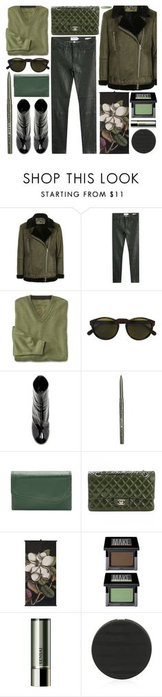 """""""green with envy"""" by foundlostme on Polyvore featuring Topshop, Frame, RetroSuperFuture, E L L E R Y, Stila, Buxton, Chanel, Make, Sensai and AllGreen"""